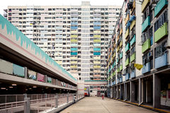 Colorful apartment buildings, Hong Kong Stock Images