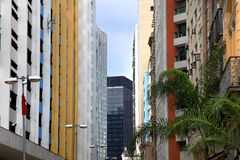 Colorful apartment buildings Stock Photos