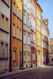 Colorful apartment houses in a alley in old town Royalty Free Stock Photography