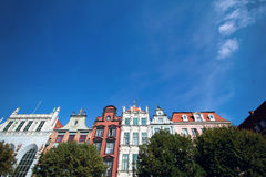 Colorful apartment houses on Long Square in Gdansk, Poland Royalty Free Stock Images