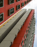 Colorful Apartment. A low angle shot of a new colorful high rise apartment against the sky Royalty Free Stock Photos