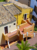 Colorful Apartments in Majorca Stock Photo