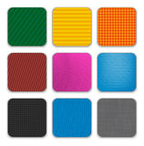 Colorful app icon templates background Stock Photos