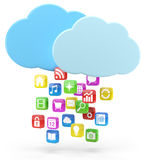 Colorful app icons and cloud Royalty Free Stock Photo