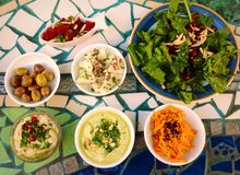Colorful appetizer, Israel Royalty Free Stock Photos