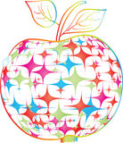 Colorful apple. Made of stars Royalty Free Stock Image