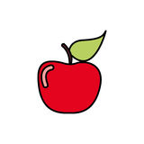 Colorful apple fruit icon stock Royalty Free Stock Photo