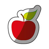 Colorful apple fruit icon stock Royalty Free Stock Photography