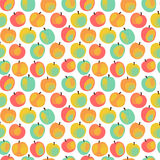 Colorful  apple pattern. Seamless colorful pattern with apples on the white background Stock Photo