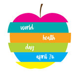 Colorful apple with text. Stock Image