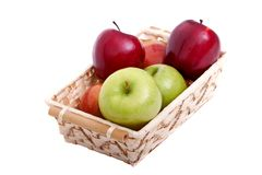 Colorful apples Stock Photography