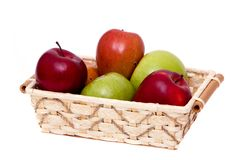 Colorful apples Stock Photos
