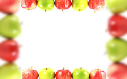 Colorful apples border Royalty Free Stock Photos