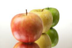 Colorful Apples Closeup Stock Photography