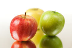 Colorful Apples Closeup Royalty Free Stock Photography