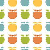 Colorful apples seamless pattern vector. Colorful apples seamless pattern. Vector illustration Stock Photos