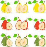 Colorful apples slices, collection of  illustration Stock Photography