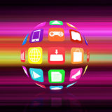 Colorful application icon  on   abstract  background Royalty Free Stock Photography