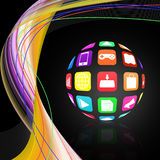 Colorful application icon  on   abstract  background Stock Image