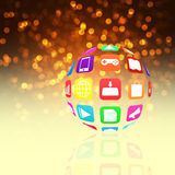 Colorful application icon  on   abstract  background Stock Photo