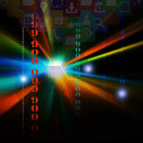 Colorful application icons,on technology concept background Royalty Free Stock Images
