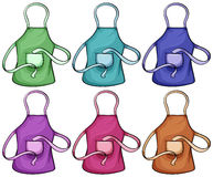 Colorful aprons Stock Image