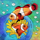 Colorful Aquarium Fishes Stock Images