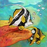 Colorful Aquarium Fishes Stock Image