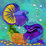 Colorful Aquarium Fishes Royalty Free Stock Images