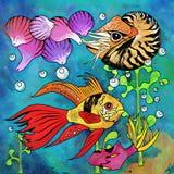 Colorful Aquarium Fishes Royalty Free Stock Photos