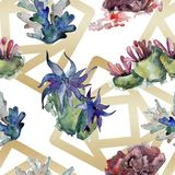 Colorful aquatic underwater nature coral reef. Watercolor illustration set. Seamless background pattern. Colorful aquatic underwater nature coral reef vector illustration