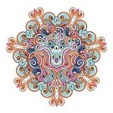 Colorful arabesque ornament for your design Royalty Free Stock Image