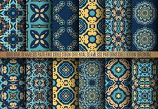 Colorful Arabesque Patterns Royalty Free Stock Photo