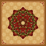 Colorful, arabesques mandala/rosette Royalty Free Stock Photo