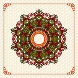 Colorful, arabesques mandala/rosette Stock Photography