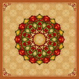 Colorful, arabesques mandala/rosette Royalty Free Stock Photos