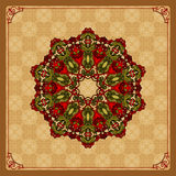 Colorful, arabesques mandala/rosette Stock Photo