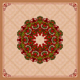 Colorful, arabesques mandala/rosette Royalty Free Stock Image
