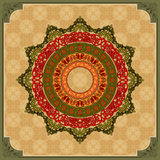 Colorful, arabesques mandala rosette Stock Photo
