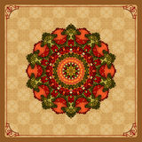 Colorful, arabesques mandala/rosette;Vintage, ornamental design Stock Photo