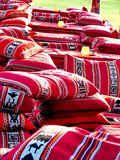 Colorful Arabic Cushions, colored pillows in asian countries. Colorful Arabic Cushions, Beautiful colored pillows in asian countries royalty free stock photography
