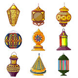 Colorful Arabic lamp Royalty Free Stock Photos