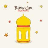 Colorful Arabic lantern or lamp for Ramadan Kareem celebration. Stock Images
