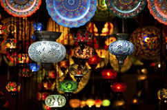 Colorful Arabic lanterns Stock Photo