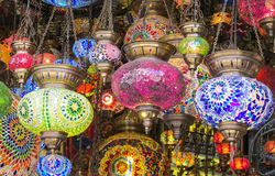 Colorful arabic laterns Stock Photos