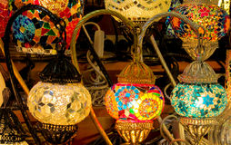 Colorful arabic laterns Royalty Free Stock Images