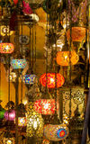 Colorful arabic laterns Stock Images