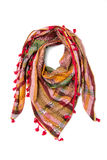 Colorful arabic scarf isolated on white background. The colorful arabic scarf isolated on white background Royalty Free Stock Images