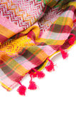 Colorful arabic scarf isolated on white background. The colorful arabic scarf isolated on white background Royalty Free Stock Photography