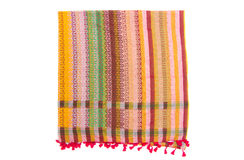Colorful arabic scarf isolated on white background. The colorful arabic scarf isolated on white background Royalty Free Stock Photo